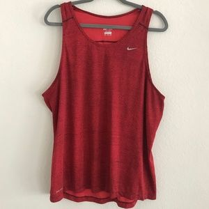 Red striped Nike dri-fit muscle tank